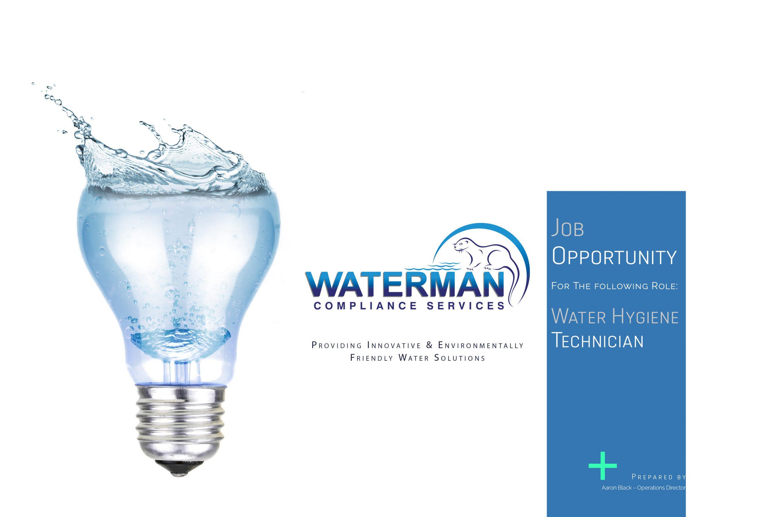 20200605 - Waterman Compliance Services Job Post - Water Hygiene Technician