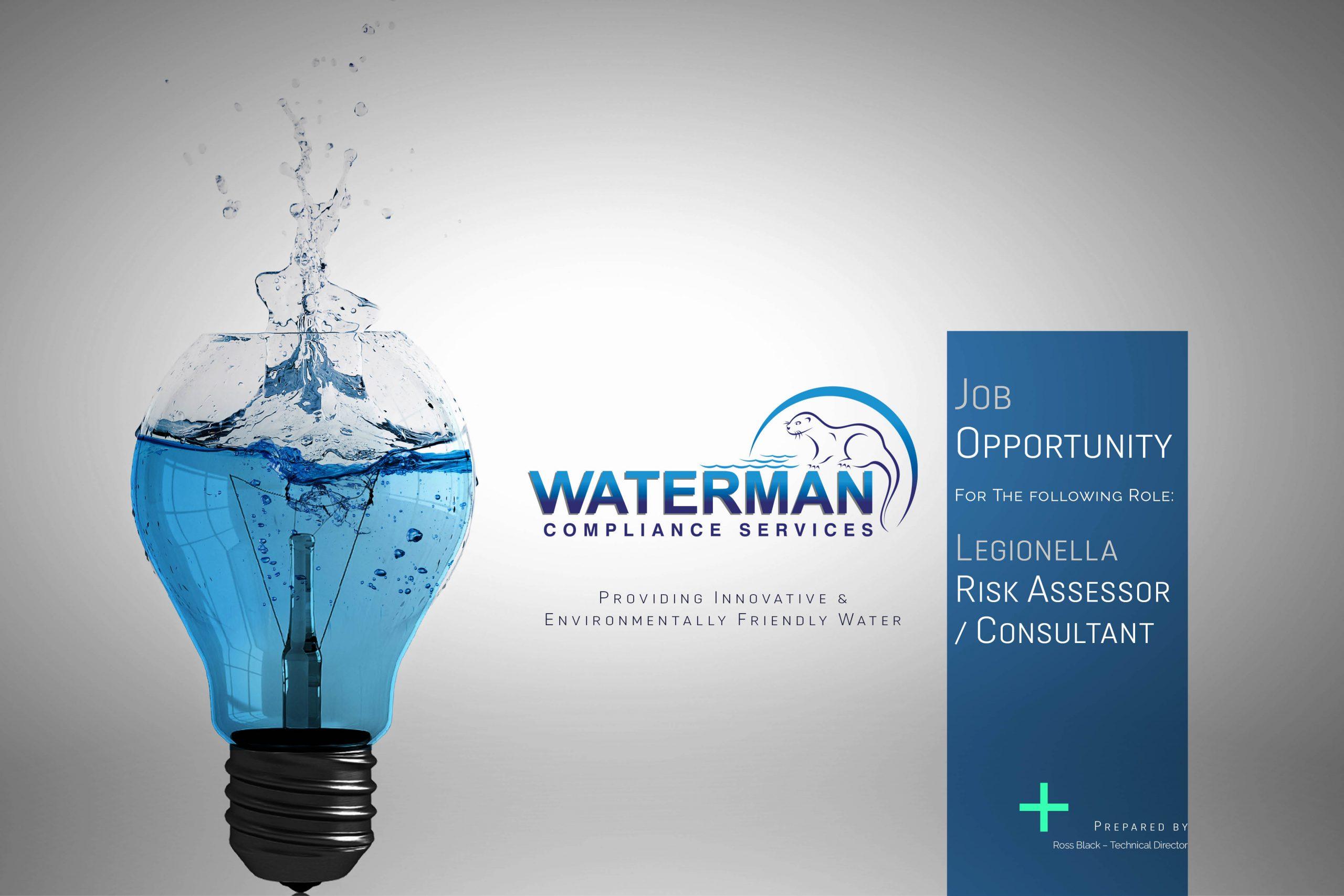 20201009 - Waterman Compliance Services Job Post - Legionella Risk Assessor - Consultant